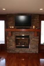 Multi Ledger Stone Fireplace